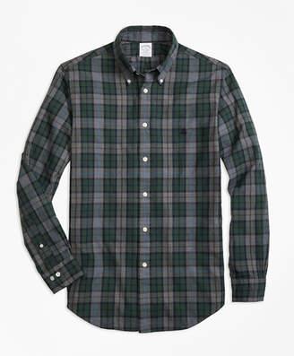 Brooks Brothers Regent Fit Yarn-Dyed Oxford Plaid Sport Shirt