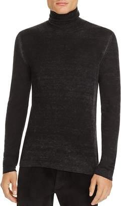 John Varvatos Collection Silk-Cashmere Burnout Turtleneck Sweater $398 thestylecure.com