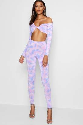 boohoo Tall Tie Dye High Waisted Leggings