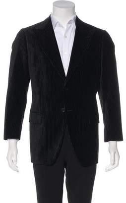 Giorgio Armani Striped Velvet Blazer