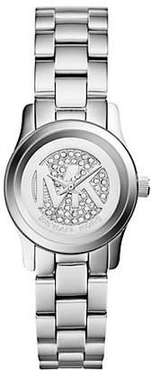Michael Kors Petite Runway Pave Silver-Tone Watch