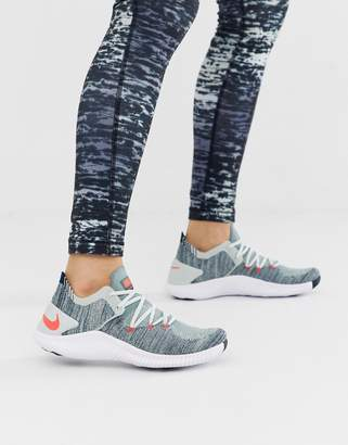 e3b7df5c0ed4c Nike Training Free TR Flyknit Sneakers In Grey And Blue