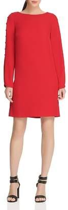 Donna Karan Button-Detail Twill Dress