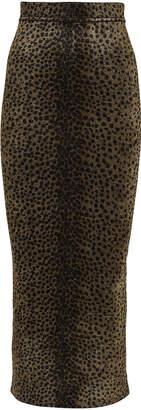 Alexander Wang Leopard Chenille Knit Skirt