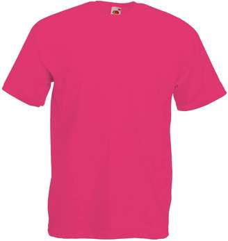 Fruit of the Loom Mens Valueweight Short Sleeved T Shirt Tee Up to 4XL - L