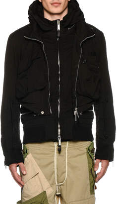 DSQUARED2 Men's Military Jersey Bomber Jacket