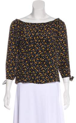 Madewell Silk Off-The-Shoulder Top
