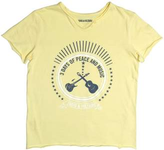 Zadig & Voltaire (ザディグ エ ヴォルテール) - Zadig&voltaire Guitar Printed Cotton Jersey T-Shirt