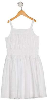 Oscar de la Renta Girls' Embroidered Sleeveless Dress