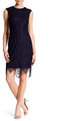 Betsey Johnson Lace Scallop Hem Sheath Dress
