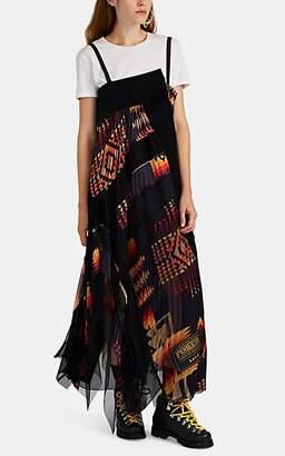 Sacai Women's Patchwork Asymmetric Maxi Dress - Navy