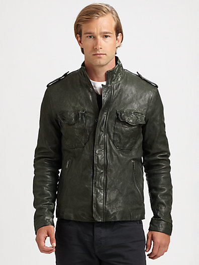 Vince Washed Leather CPO Jacket