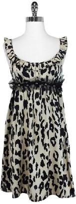 L.A.M.B. Black & Tan Silk Leopard Print Dress $68.99 thestylecure.com