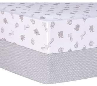 Trend Lab Safari and Dot Fitted Crib Sheets