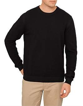 Paul Smith Diagonal Operated Cotton Crew Neck Knit