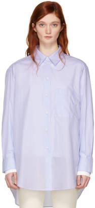 Studio Nicholson Blue Claxon Oversized Shirt