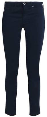 AG Jeans The Legging Ankle Textured Cotton-Blend Skinny Pants