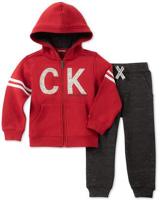 Calvin Klein Toddler Boys 2-Pc. Full-Zip Hoodie & Jogger Pants Set