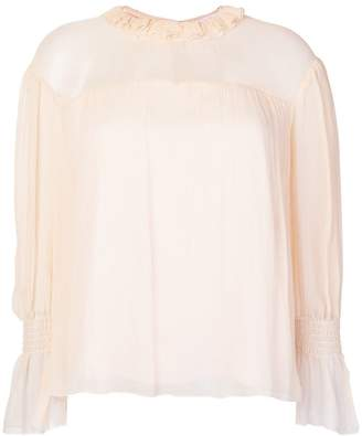 See by Chloe ruffled neck blouse