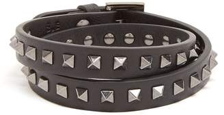 Valentino Wraparound Rockstud-embellished leather bracelet