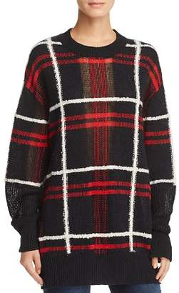 McQ Oversize Plaid Sweater