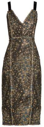 Erdem Elissa star-jacquard dress