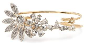 Burberry Daisy And Crystal Embellished Double Ring - Womens - Crystal