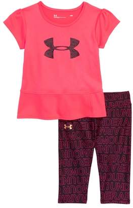 Under Armour Wordmark Tee & Leggings Set