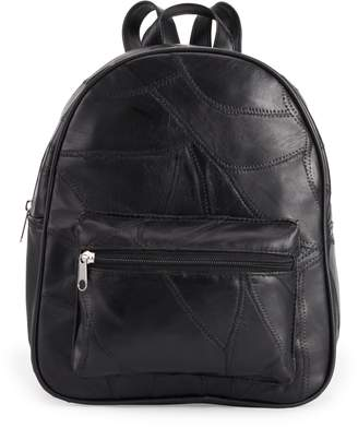 Co Stone & Stitched Patchwork Leather Backpack