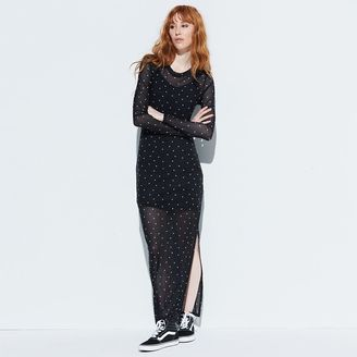 K/lab Mesh Long Sleeve Maxi Dress $68 thestylecure.com
