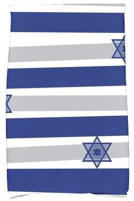 """Simply Daisy 16"""" x 25"""" Star Stripes Stripe Print Hand Towel"""