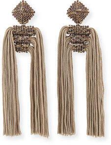 Sachin + Babi Dupio Crystal & Tassel Drop Earrings