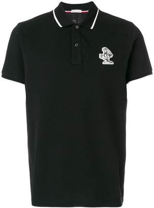 Moncler character patch polo shirt
