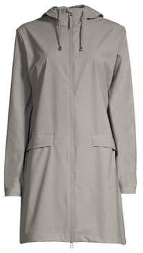 Rains Hooded Zip-Up Mackintosh