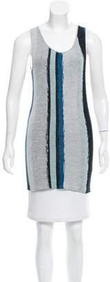 Baja East Striped Knit Top