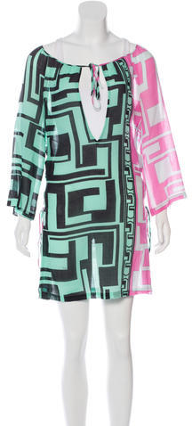 Emilio PucciEmilio Pucci Lace-Up Printed Dress