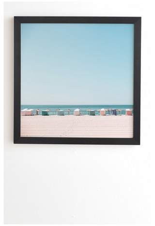 Hello Twiggs Beach Huts Framed Wall Art by Basic Black 20