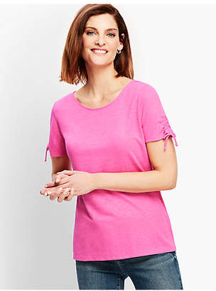 Talbots Ruched-Sleeve Tee