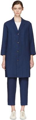Blue Blue Japan Indigo Linen Engineer Coat $435 thestylecure.com