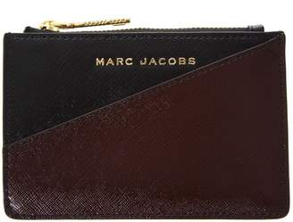 Marc Jacobs Black & Burgundy Top Zip Pouch