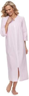 Miss Elaine Women's Essentials Long Seersucker Robe