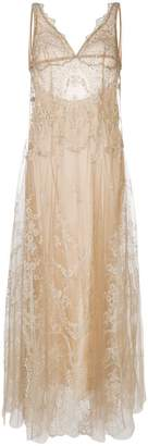I.D. Sarrieri I.D.Sarrieri lace-embroidered shift night dress
