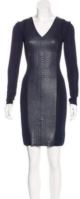 Jitrois Python-Paneled Sheath Dress