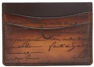 Berluti - Bambou Leather Cardholder - Mens - Brown