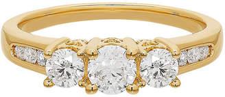 MODERN BRIDE Love Lives Forever Womens 1 CT. T.W. White Diamond 14K Gold 3-Stone Ring