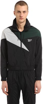 Reebok Hooded Zip-Up Nylon Track Jacket $1,070 thestylecure.com