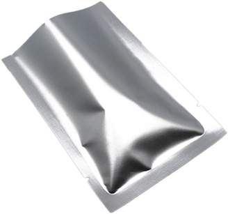 FERENLI 100Pcs Flat Open Top Aluminum Mylar Foil Packing Bags Heat Seal Food Coffee Tea Nuts Storage Packaging Pouch Vacuum Seal Tear Notch