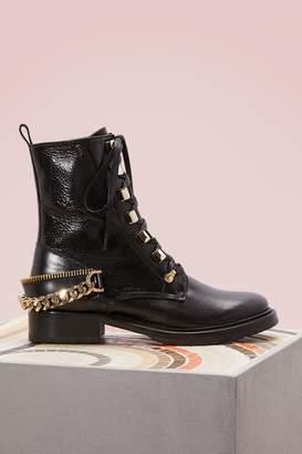 Lanvin Biker Chain Boots