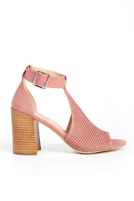 Steve Madden Sawyer Perforated Cut Out Block Heel