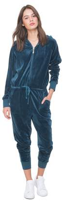 Juicy Couture Ultra Luxe Velour Hooded Jumpsuit